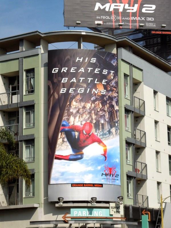 Amazing Spider-man 2 His greatest battle begins billboard