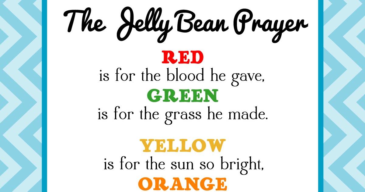 Magic image with jelly bean prayer printable