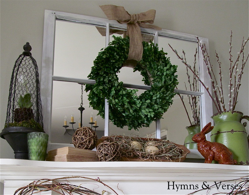 HYMNS AND VERSES - SPRING MANTEL