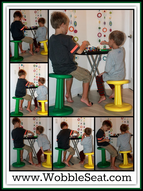 Wobble Seats in Action with Boys via RainbowsWithinReach