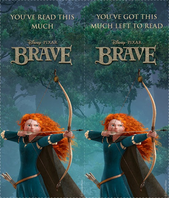 Marcapaginas Imprimibles de Brave.