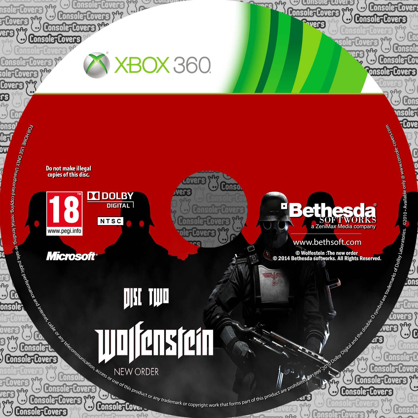 Label Wolfenstein The New Order Disc Two Xbox 360