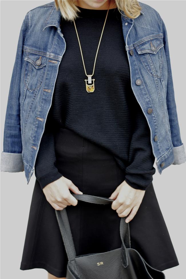 J.Crew Factory, necklace, tortoise shell, denim, jean, jacket