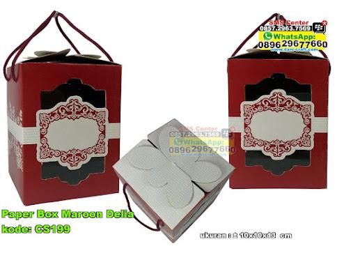 Paper Box Maroon Delia