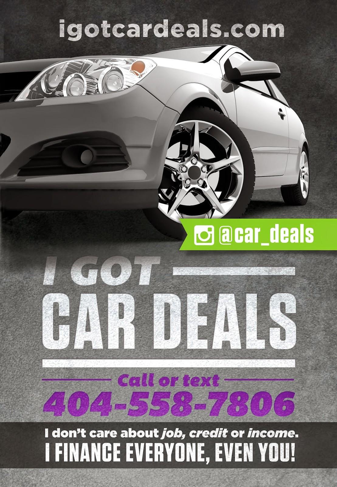 I Got Car Deals Contact Me