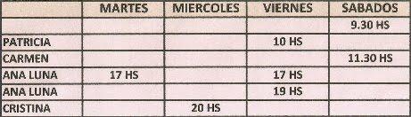 GRUPO VIERNES 10HS Y SABADOS 9.30HS SE ENCUENTRAN EN FORMACION          POR FAVOR INSCRIBIRSE