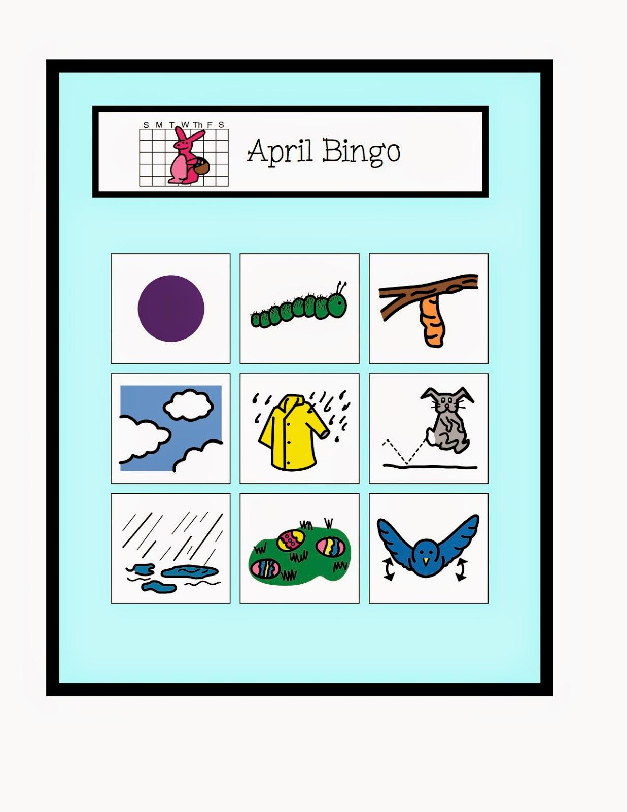 April Vocabulary Unit! - The Autism Adventures of Room 83