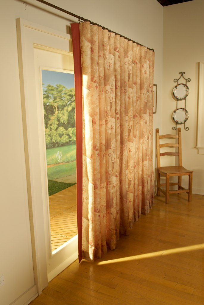 Window treatment ideas for sliding glass doors in kitchen