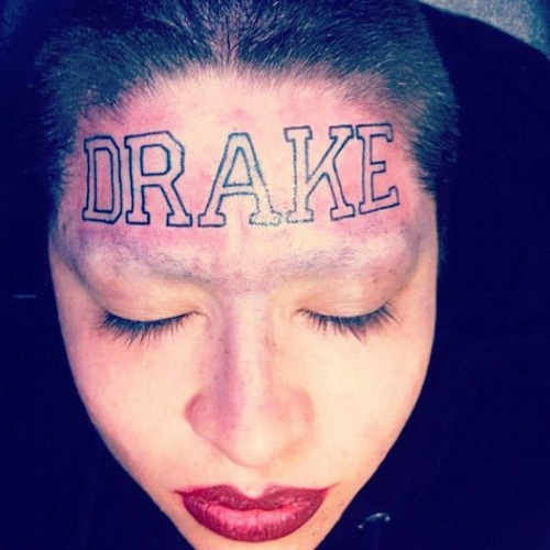 Girl with Drake Tattoo