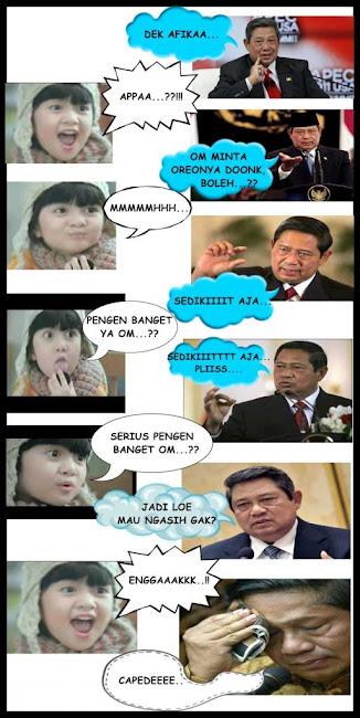 Foto Afika VS SBY | Afika dengan SBY | Foto Lucu Afika