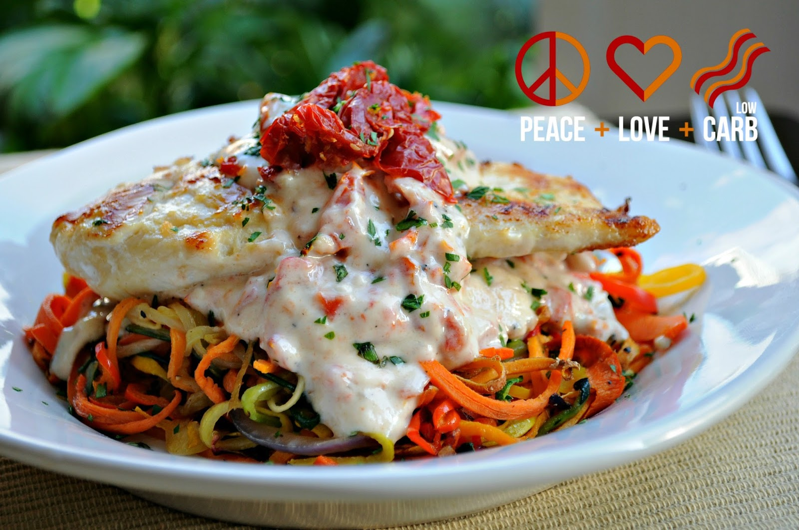 Rainbow vegetable noodles peace love and low carb rainbow vegetable noodles forumfinder Gallery