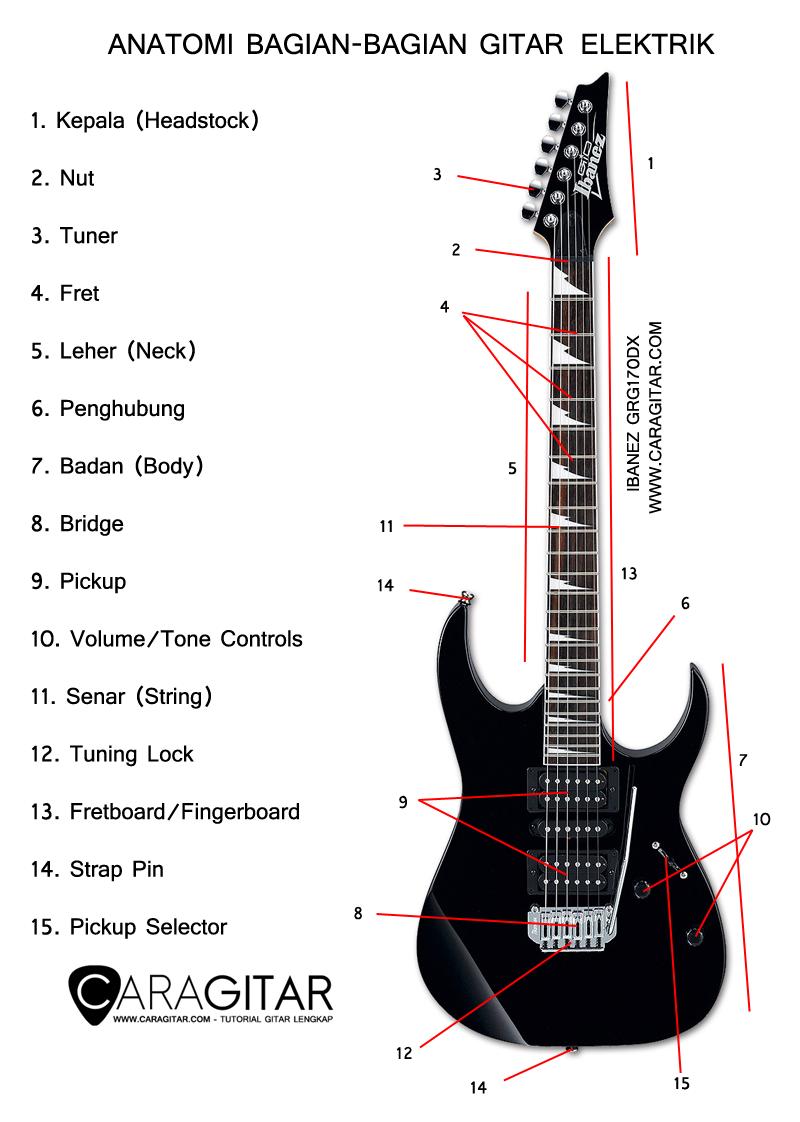 gambar bagian gitar listrik