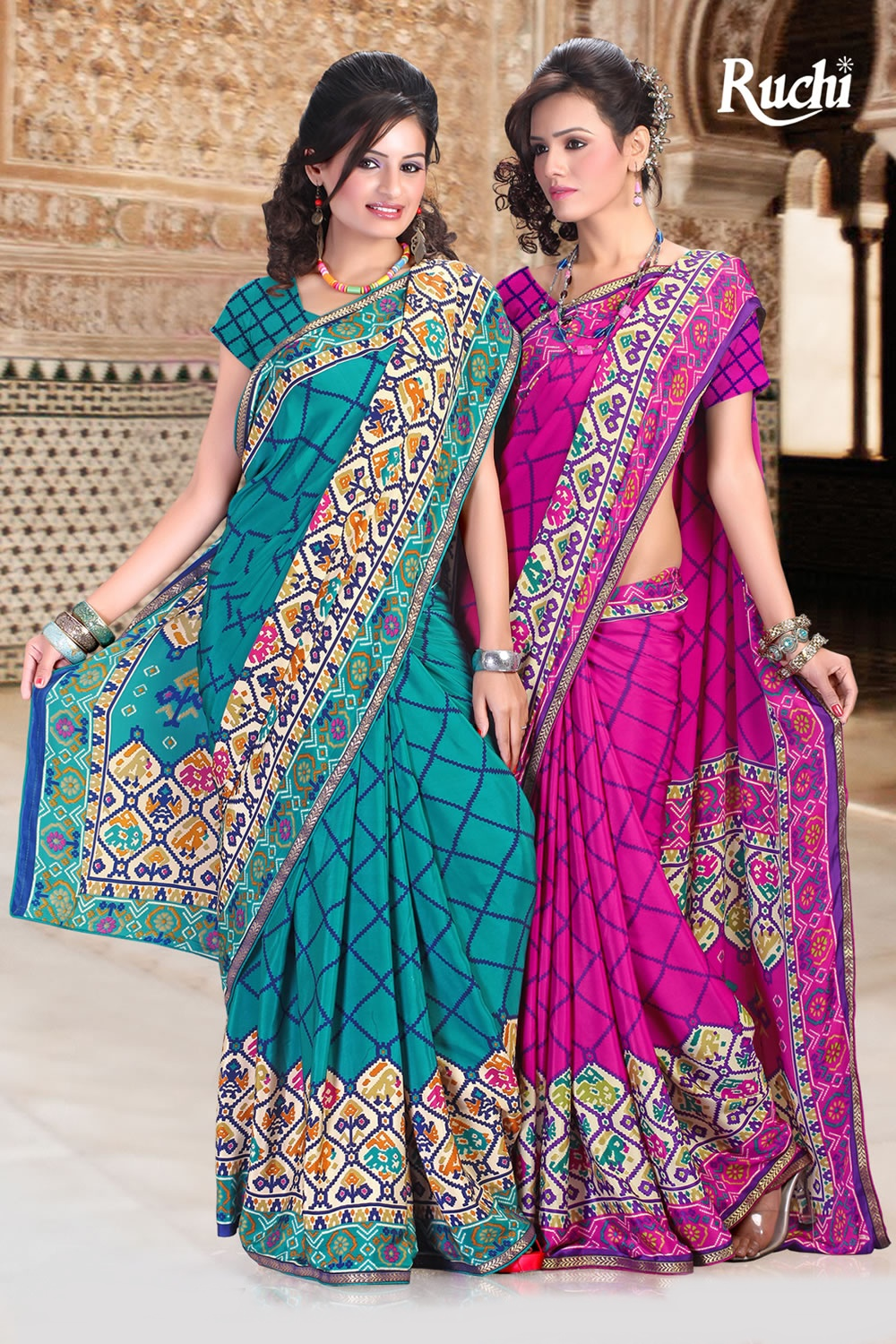 ruchi designer sarees colorful party wear spring saree collection