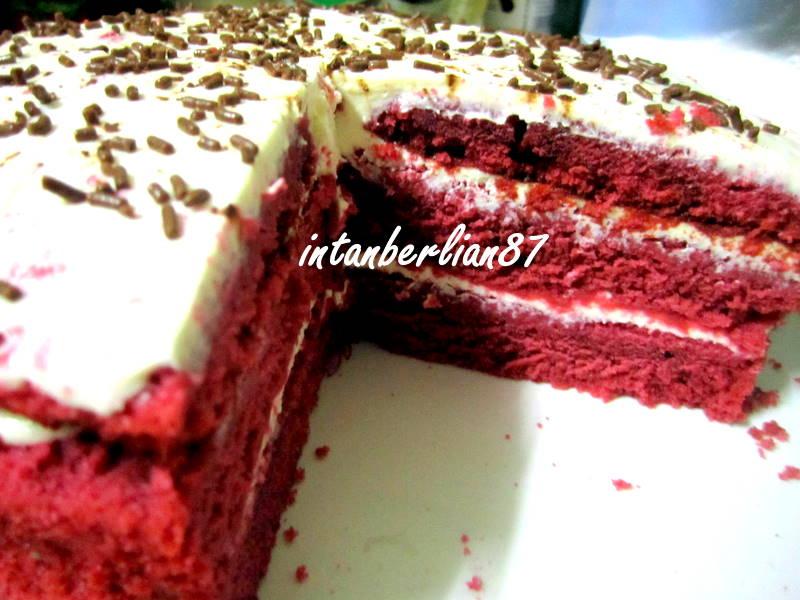 Resepi Red Velvet Kek.