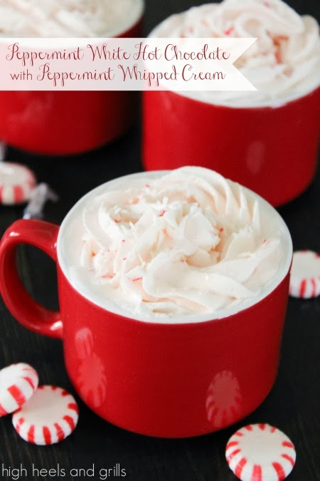 ... Grills: Peppermint White Hot Chocolate with Peppermint Whipped Cream