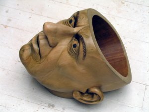 Bob Trotman, No Brainer, 2010; wood, paint, wax; private collection