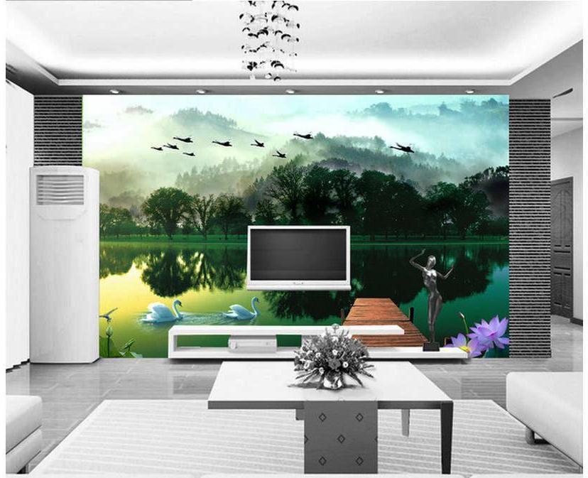 Wallpaper Dinding Ruang Tamu Alami