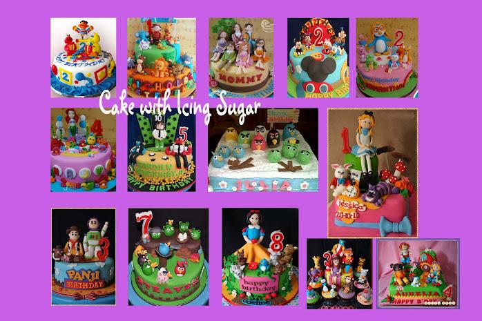 Cake dengan icing sugar