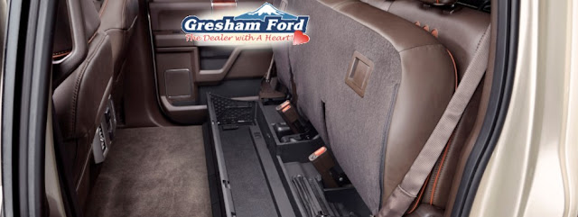 2017 Ford Super Duty Rear Seat Storage available at Gresham Ford
