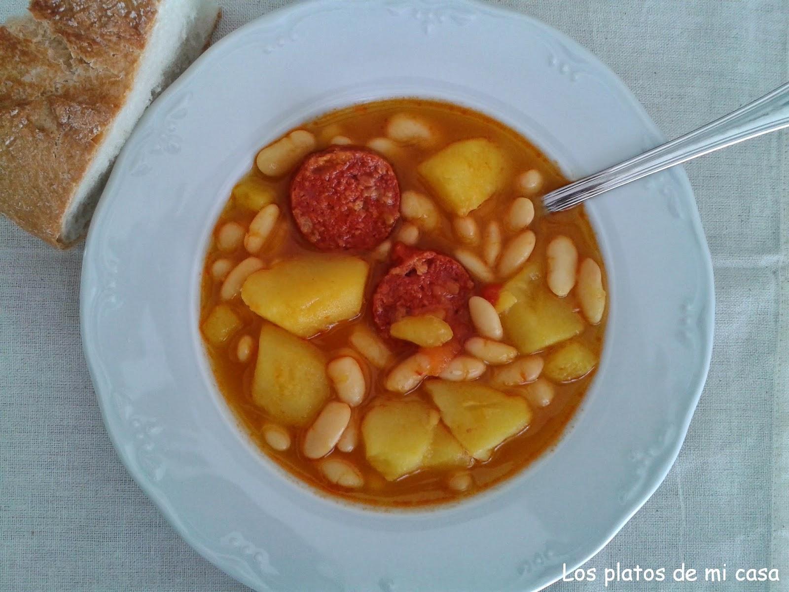 Los platos de mi casa potaje de judias blancas for Cocinar judias blancas