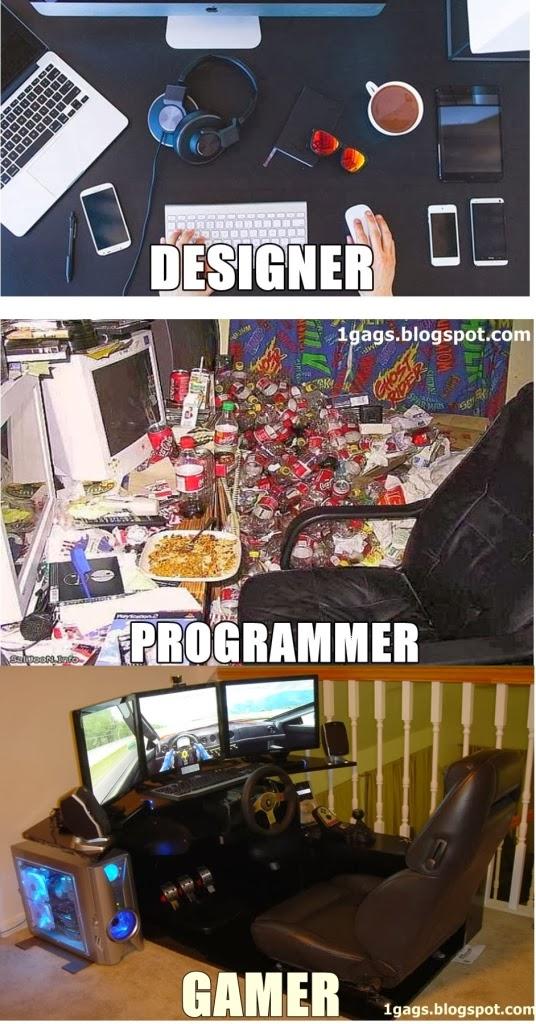 Designer VS Programmer VS Gamer