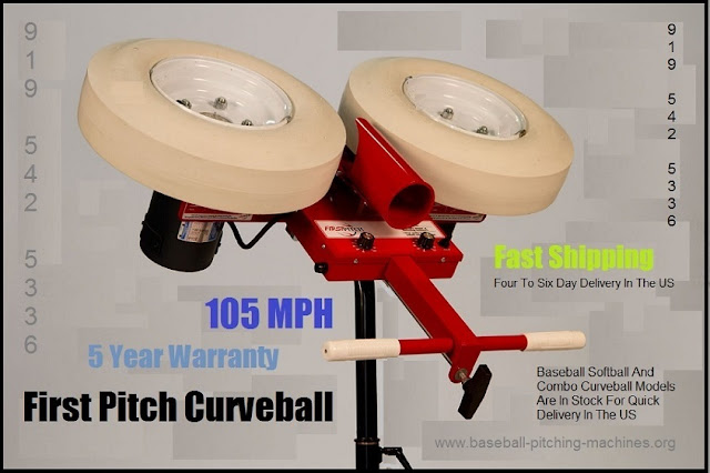 Curveball Pitching Machine - Great For High School And College Level Baseball And Softball Players