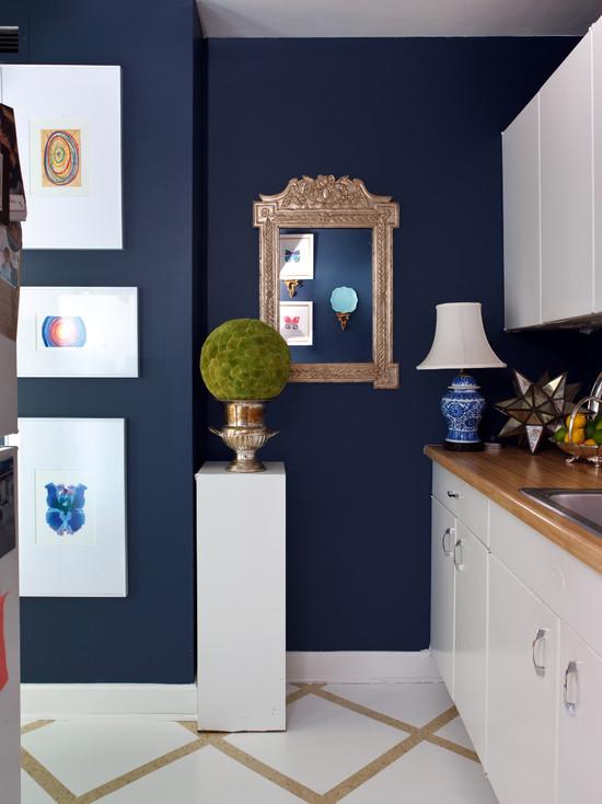 New Kitchen Designs Dark Blue Kitchen Design