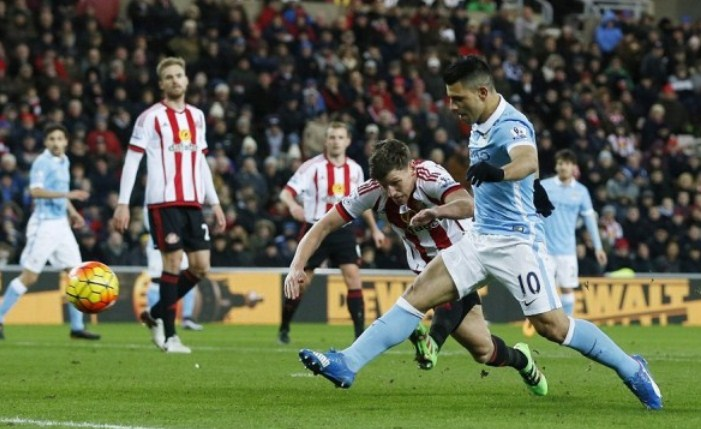 Results Sunderland vs Manchester City score 0-1 Premier League