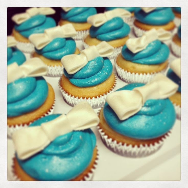 Cupcakes de Boda Color Turquesa, parte 1