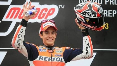 Marquez tercepat dalam qualifikasi,akankah Jorge Lorenzo dapat mematahkan dominasi podium Marc Marquez dan menjadi juara dunia MotoGP musim 2013?
