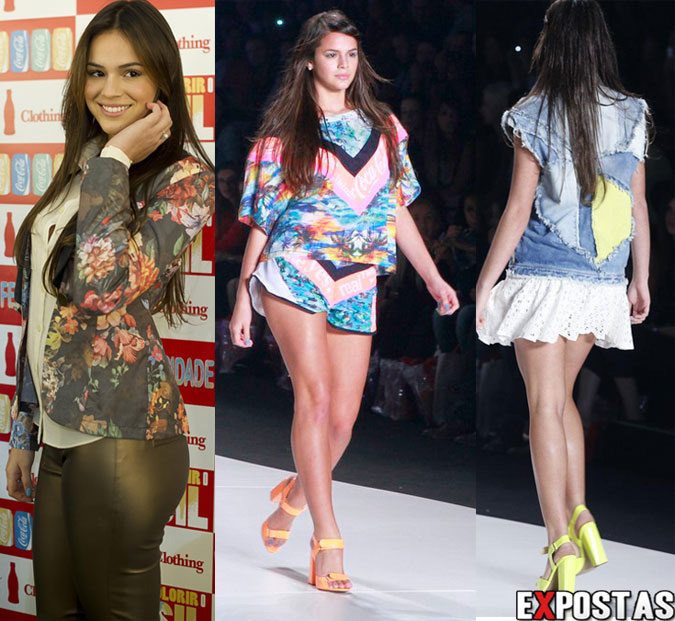 Bruna Marquezine desfilando pela Coca-Cola Clothing no Fashion Rio - 18 de Abril de 2013