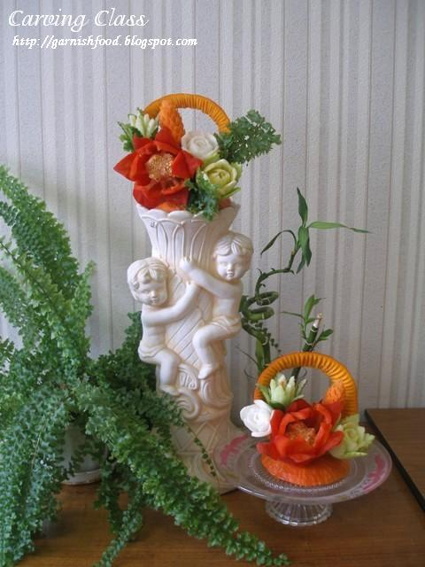 hoe to make vegetable bouquet and present it nicely