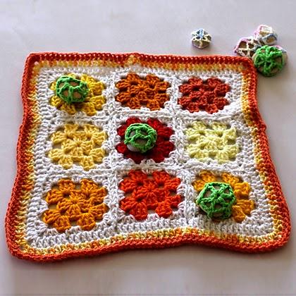 Citrus Tic-Tac-Toe - Free Crochet Pattern
