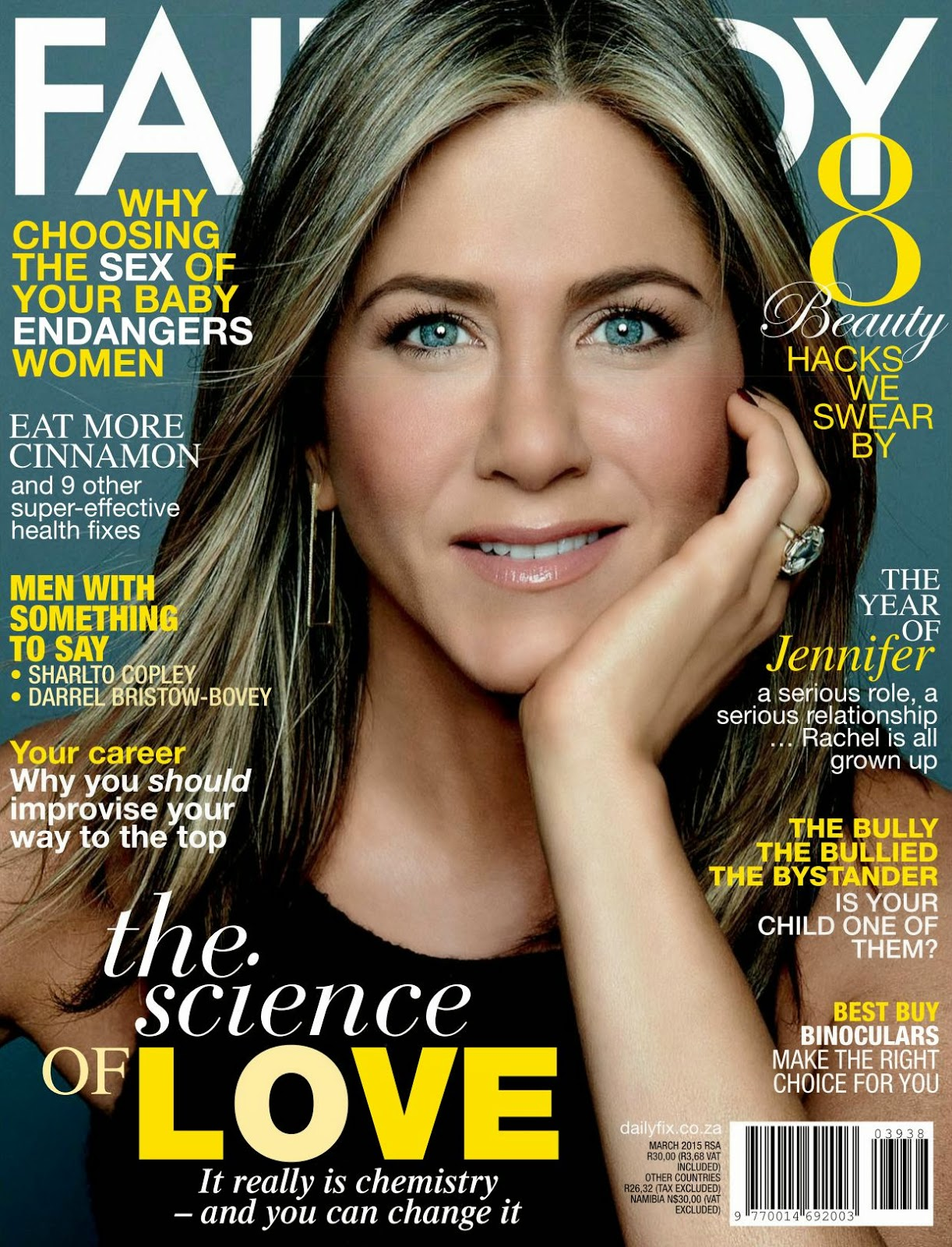 Actress: Jennifer Aniston - Fairlady South Africa March 2015