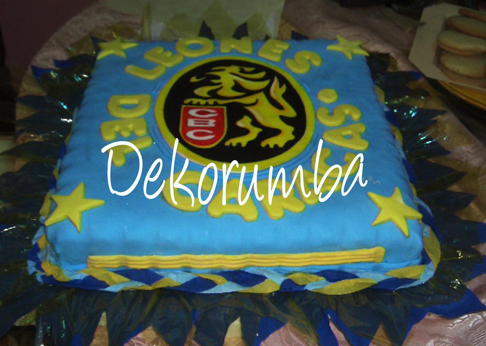 Torta Decorada de Los Leones del Caracas II