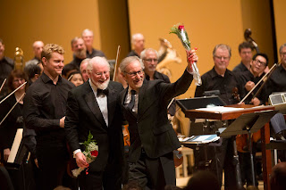 John Williams and Steven Spielberg with the ASO.