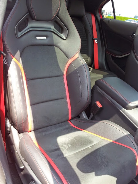Mercedes A45 AMG - front seats