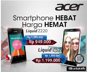 Spesifikasi Acer, Smartphone Acer Liquid Z520 dan Liquid Z220, Daftar Harga Smartphone Acer Liquid Z520 dan Liquid Z220!