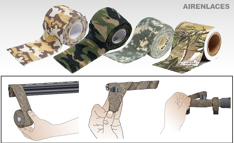 Cintas para Camuflaje, Tape to Camouflage, Airgun Camo