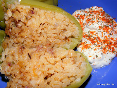 Turkish Recipe - Biber Dolması or Stuffed Peppers