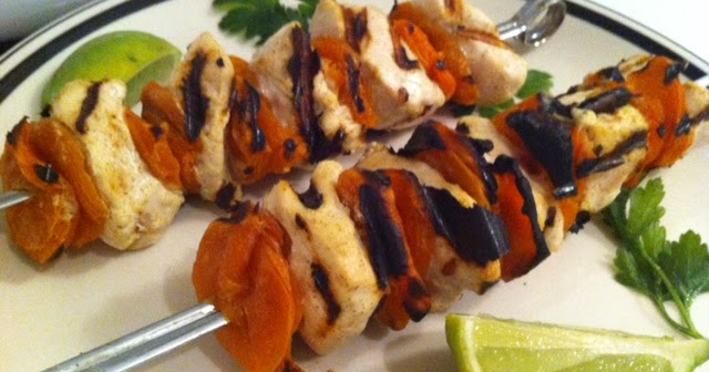 Lara's Tone It Up Blog: Chicken-Apricot Skewers