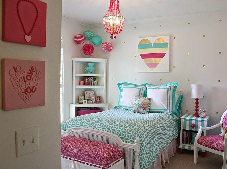 Dormitorio juvenil lleno de color cocochicdeco - Habitaciones juveniles de chica ...