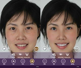 Perfect365 makeup screen Shot