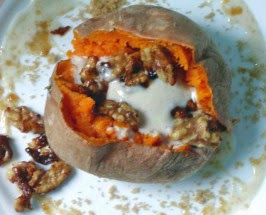 http://www.food.com/recipe/roasted-whole-sweet-potatoes-with-maple-ginger-topping-91021