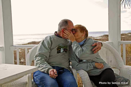 George and Betsy in LOVE at the beach, January 2015
