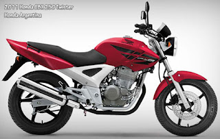 2011 Honda CBX 250 Twister Red