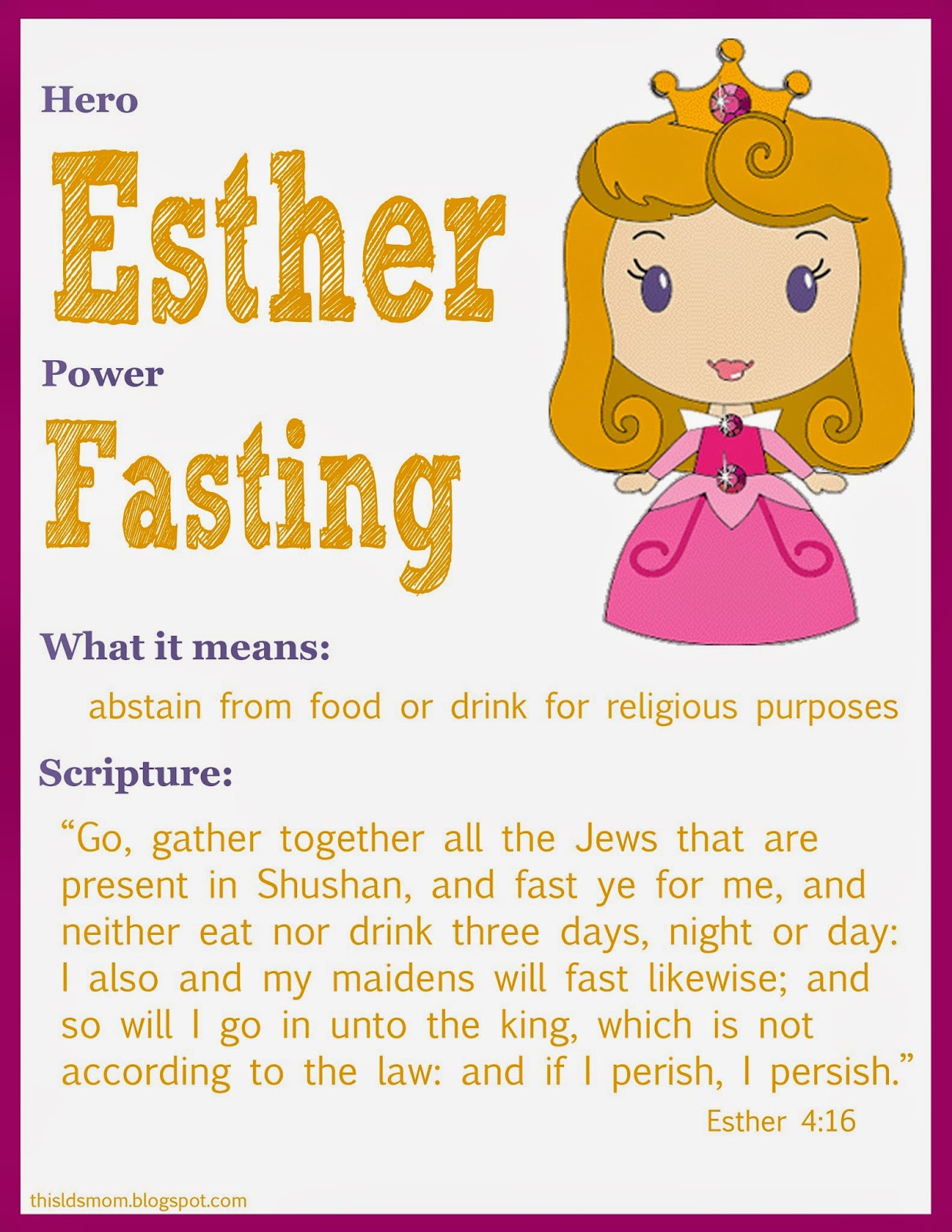this lds mom scripture heroes esther