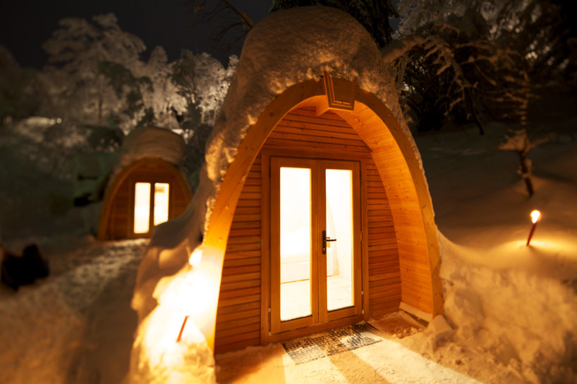 Trendystyle eco pod hotel in switzerland for Portable wooden house