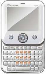 Micromax Q56 Swivel QWERTY Mobile with Swarovski Crystals