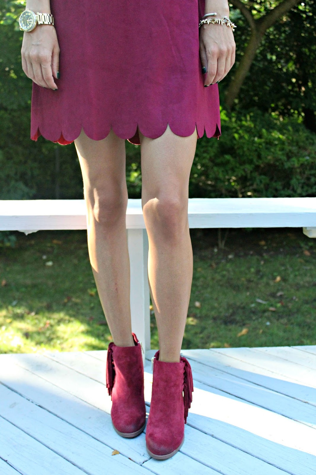vince camuto burgundy booties